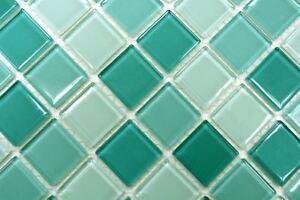 Mosaïque carreau translucide verre vert cuisine mur toilette 62 ...