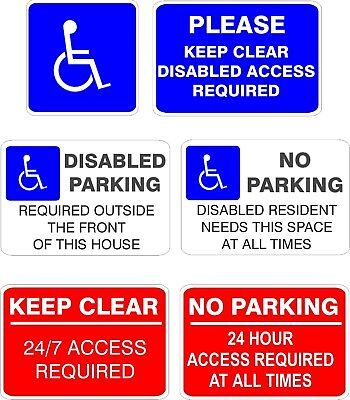 No Parking 24 Hour Access Clamping Operation Sign 3mm Aluminium Composite A4 A5