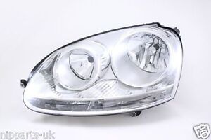 VW-VOLKSWAGEN-GOLF-MK5-2004-2009-HEADLIGHT-HEADLAMP-LH-LEFT-N-S-NEAR-PASSENGER