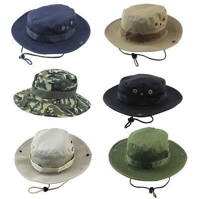 BeFur Unisex Camouflage Sun Flap Cap Summer Outdoor Bucket Boonie Fishing Hat