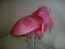 VINTAGE 80S GRAHAM SMITH KANGOL PINK FEATHER  BERET LADIES DAY ASCOT RACES