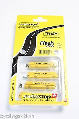 Swissstop Flash Pro Yellow King Road Carbon Brake Pads Shimano SRAM TRP  4pads