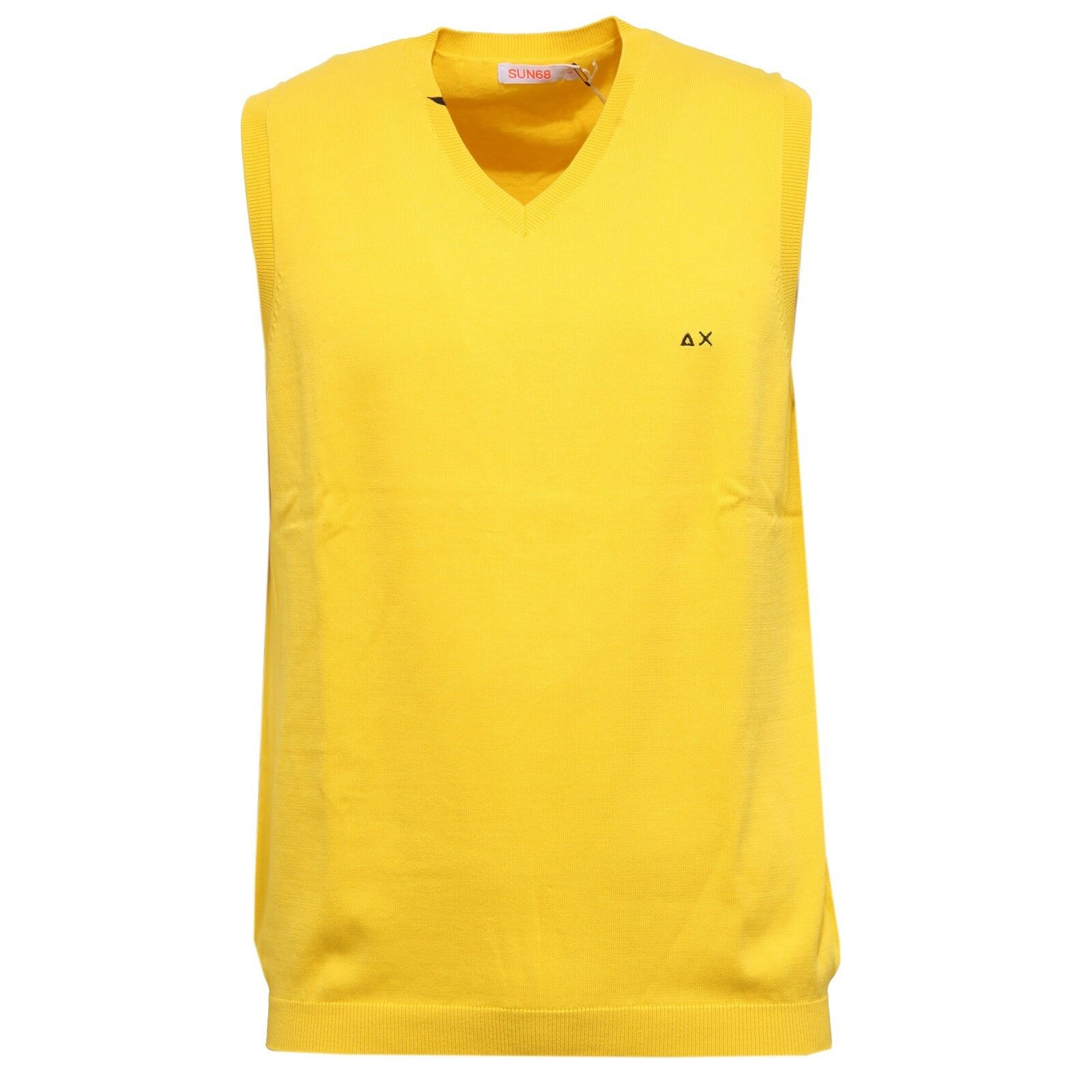 Cotton Sun Gilet Sweater 68 Uomo Jaune 0707w Sleeveless q1Ufx6F