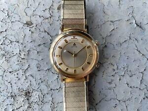 LeCoultre Memovox Alarm 10k Gold Vintage Watch