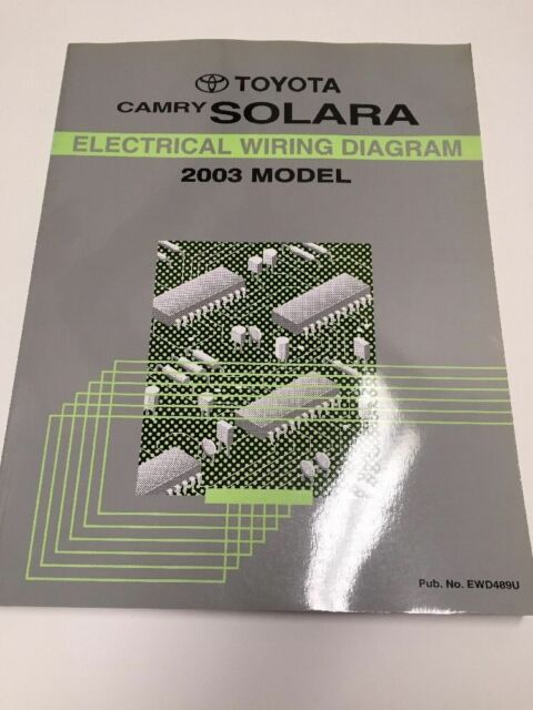 2003 toyota camry solara oem factory electrical wiring diagram book