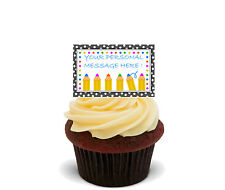 Personalised Cup Cake Toppers, Fairy Bun Decorations, Teacher School Thank You