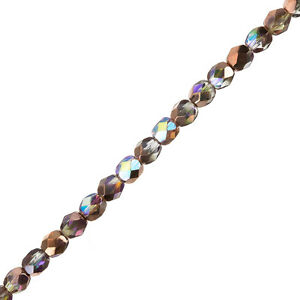 6mm-Czech-Fire-Polished-Beads-Crystal-Copper-Rainbow-6-034-Strand-25-Piece-G105-1