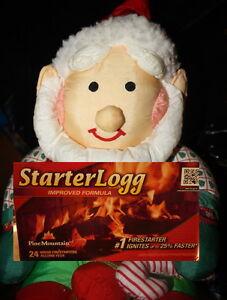 STARTER-LOGG-LOG-Flame-40-WOOD-Firestarters-PINE-MOUNTAIN-10-x-4pk-Dura