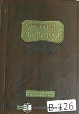 Barber Colman 3 Amp 12 Gear Hobbing Operations And Repair Parts Manual