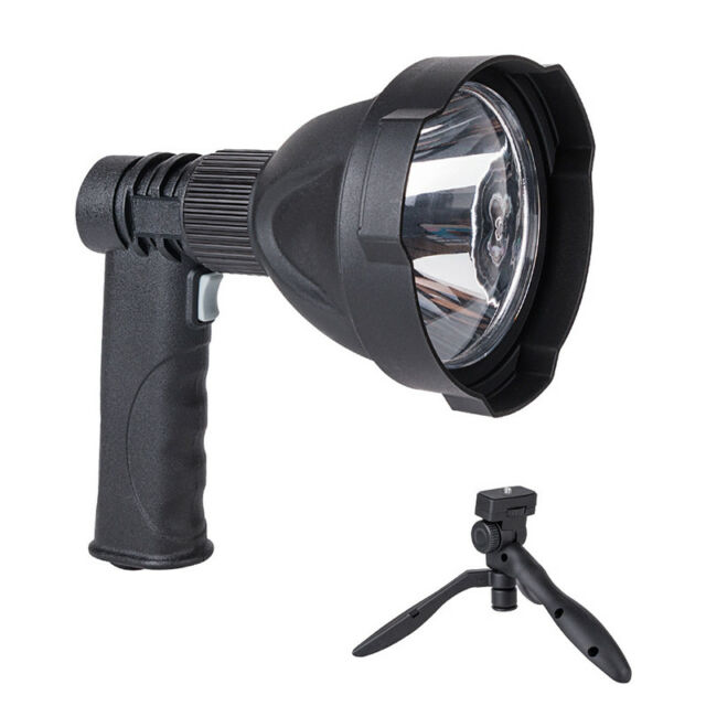 Rechargeable Led Handheld Camping Spotlight Torch Hunting Fishing Spot Light