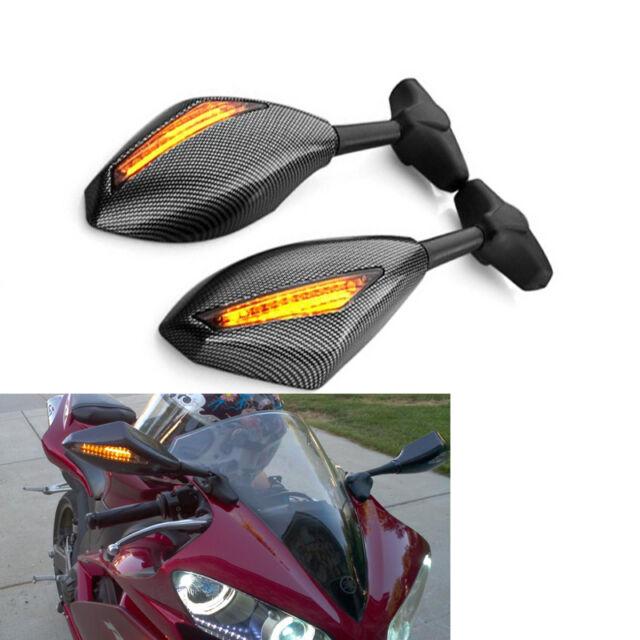 LED Turn Signal Mirrors Suzuki GSXR GSX R 1000 2001-2004 2002 2003 01 02 K1 K3