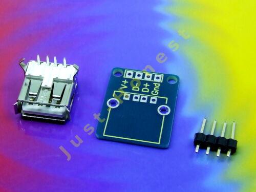 Stk // pcs 1 x USB A ADAPTER   BREADBOARD STECKBOARD KIT