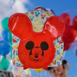 Disney Parks Mickey Mouse Balloon Popcorn scented Loungefly Mini Backpack.