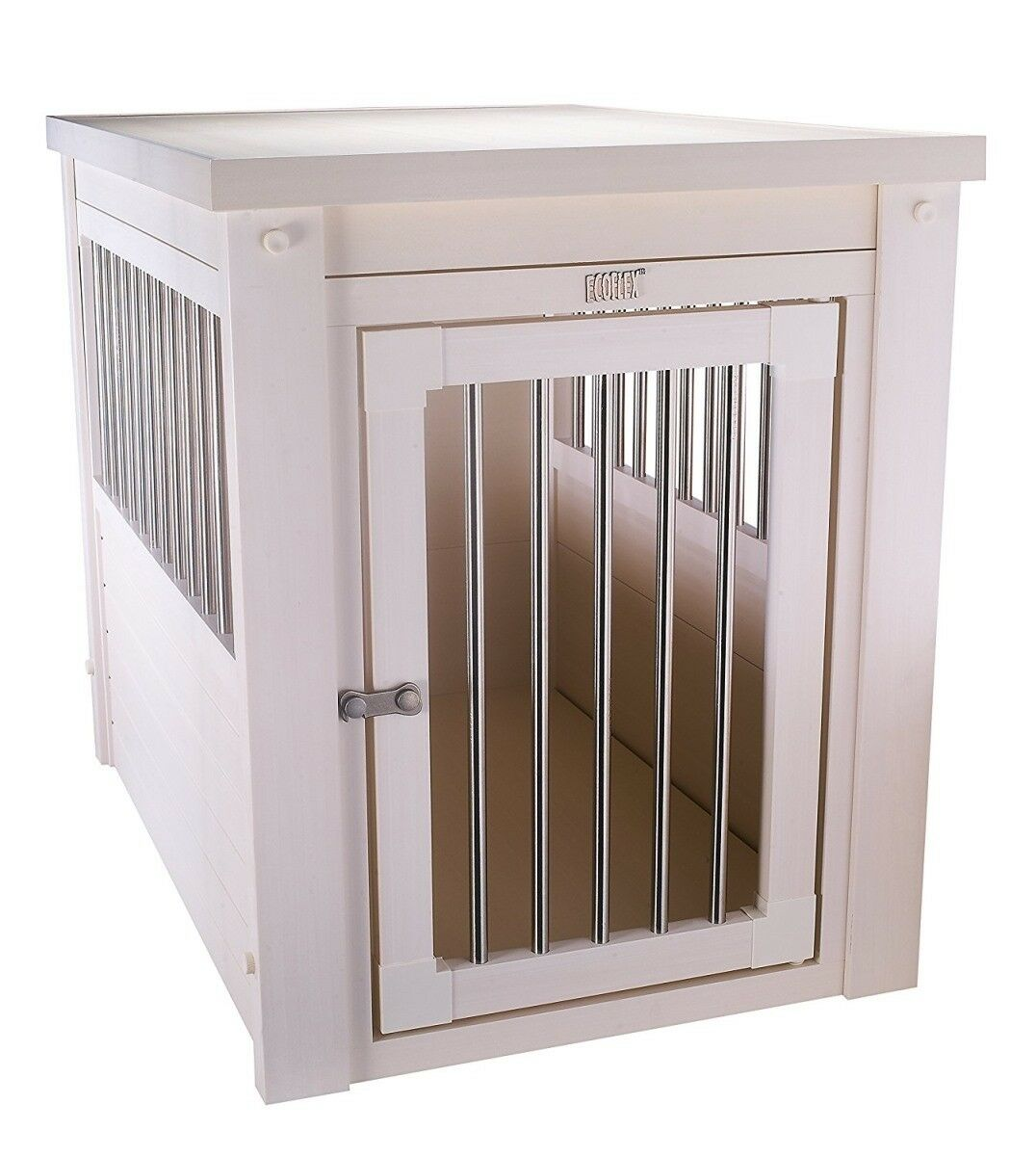 New Age Pet EHHC404S EcoFLEX Dog Crate - Antique White Small
