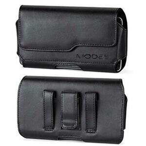 Black Leather Case Belt Clip LOOP Holster Pouch For Samsung Galaxy Note 10 / PRO