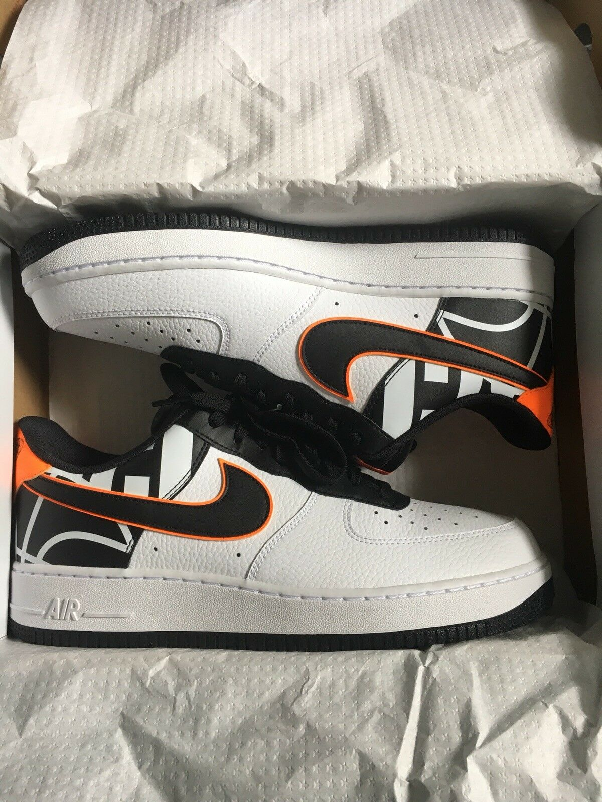 Nike air force 1 low 07 lv8 823511 104 White Black Orange Comfortable The most popular shoes for men and women