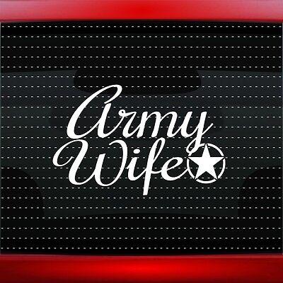 20 COLORS Marine Wife Car Decal Window Vinyl Sticker Proud Military Veteran