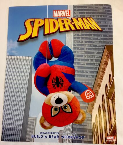 NWT Build a Bear Spider-Man Poster Media Promotional Limited Movie Marvel Comics