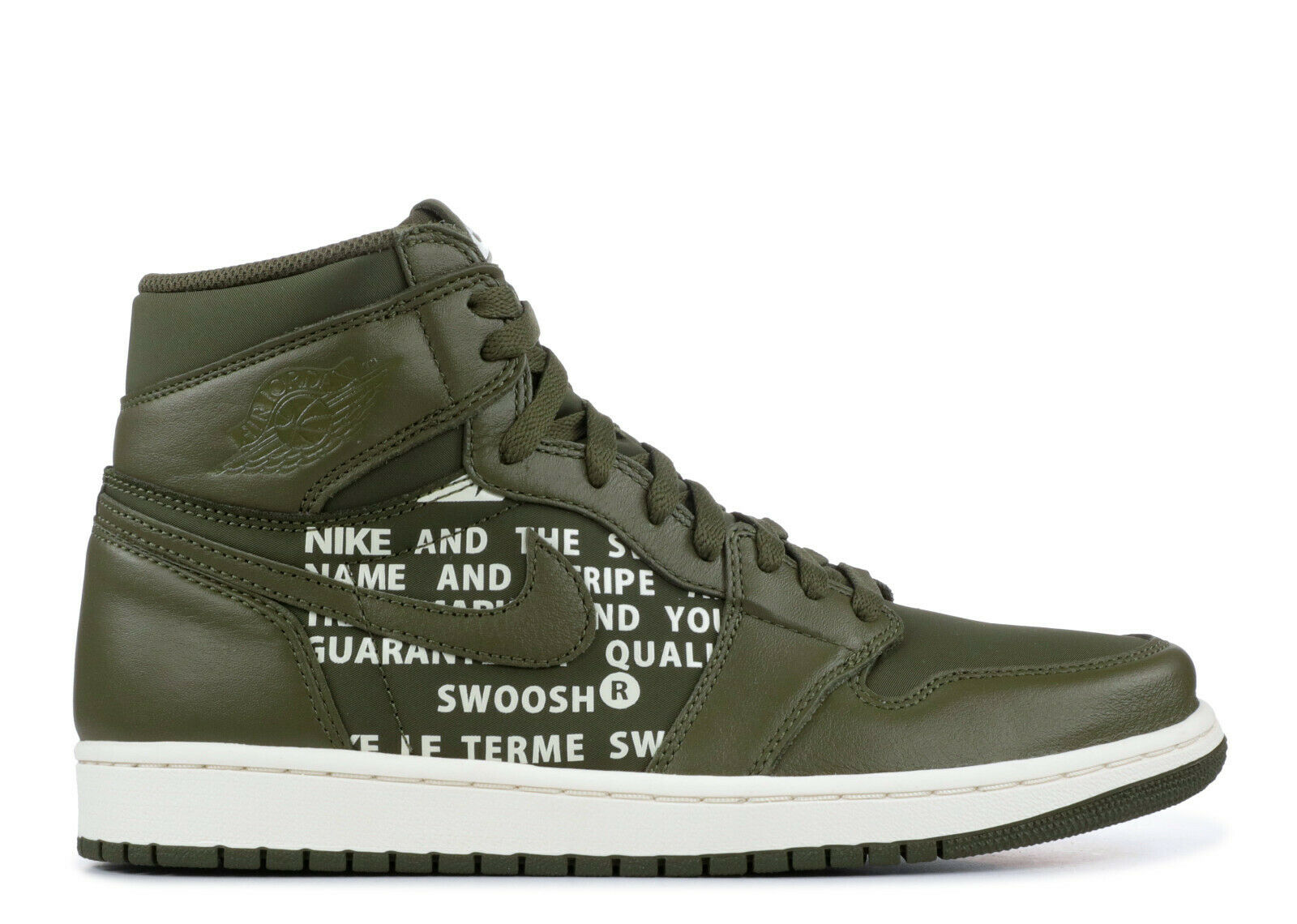 Nike Air Jordan 1 Retro High OG Olive Canvas Size 15. 555088-300