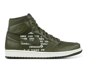 detailed look 8f5a9 94177 Image is loading Nike-Air-Jordan-1-Retro-High-OG-Olive-