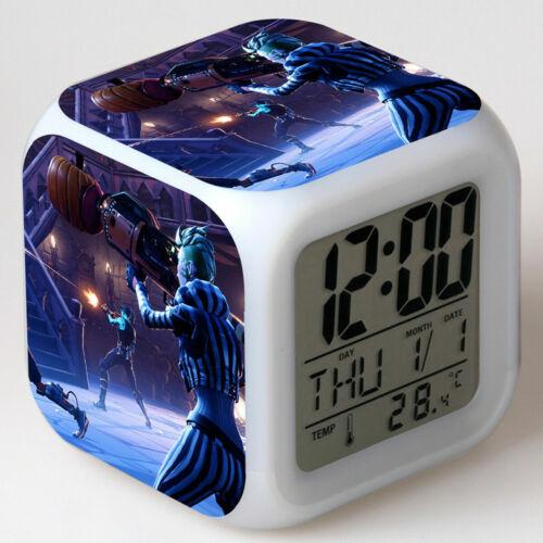 3D Nachtlichter Fortnite Game TPS LED 7 Farbe Digital Glühend Wecker Typ B