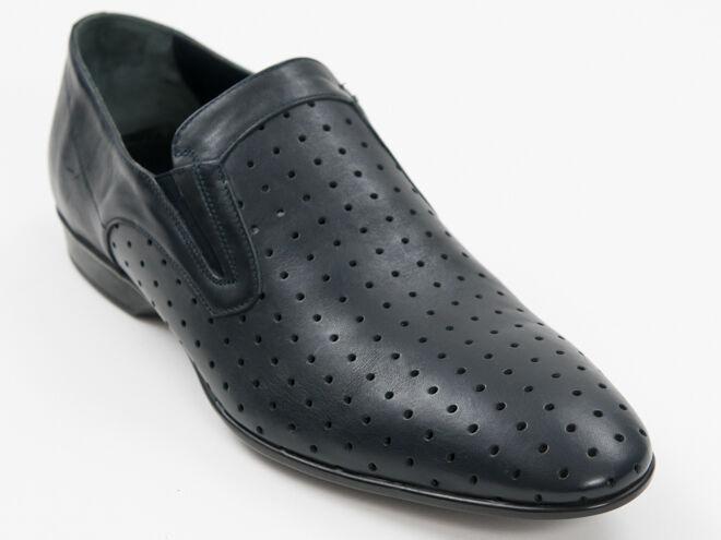 Nuova Lido Marinozzi Navy Perforato Cuoio Made in  scarpe Dimensione 46 US 13