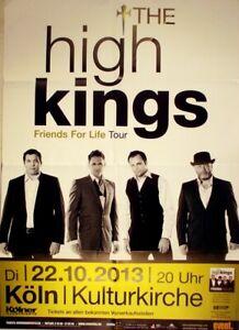 HIGH KINGS - 2013 - Plakat - Friends for Life - Tourposter - Concert - Köln - Oberhausen, Deutschland - HIGH KINGS - 2013 - Plakat - Friends for Life - Tourposter - Concert - Köln - Oberhausen, Deutschland