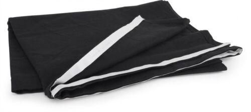 Podestverkleidung aus Bühnenmolton schwarz 200 x 60 cm