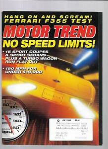 Motor Trend Magazine July 1995- Cadillac DeVille Concours ...