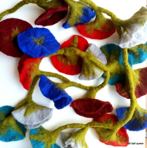 Nepalese Handmade 100/% Woollen Felt Flower Design Nursery Decoration Hanging