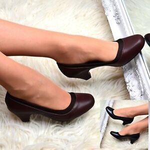 Ladies Low Kitten Heel Court Shoes