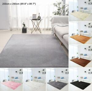 Fluffy Rugs AntiSlip SHAGGY RUG Super Soft Carpet Mat Living Room Floor Bedroom