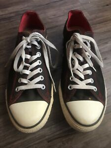 converse all star black red white casual lace up sneakers
