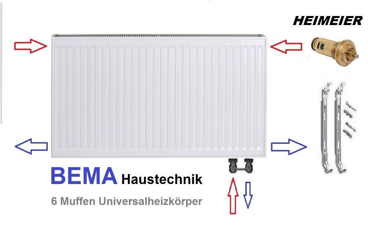 Ventilheizkörper  Typ 22 - BH 300 x BL 2200 mm  mit Zubehör
