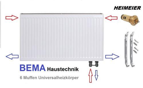 BH 400 x BL 500 mm  Ventilheizkörper mit Zubehör Typ 22 Anschluss LINKS