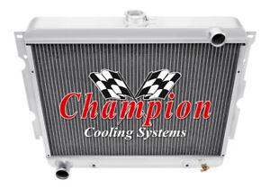 1970-77 Chevy Monte Carlo 4 Row Core Champion WR Radiator A//C Heavy Duty