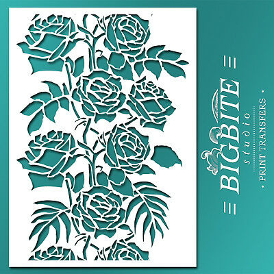 Floral Mandala Stencil Pattern Print Transfer Shabby Chic STENCIL #081