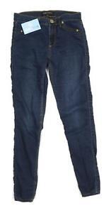 Womens-River-Island-Blue-Cotton-Blend-Jeggings-Size-10-L28