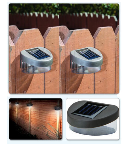 6 X SOLAR POWER POWErot DOOR FENCE WALL LIGHTS LED OUTDOOR GARDEN SHED LIGHTING
