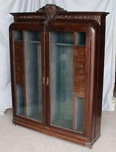 Magnificent Details About Rare Oak Antique Gun Cabinet Download Free Architecture Designs Scobabritishbridgeorg