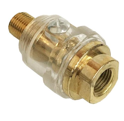 "Mini In-Line Oiler Air Lubricator Tools 1//4/"" NPT Line Brass Compressor"
