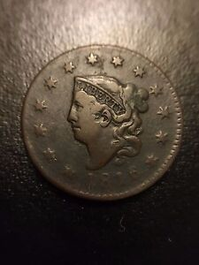 1816-Coronet-Matron-Head-Large-Cent-Choice-VF-Very-Fine-Penny-Newcomb-1c