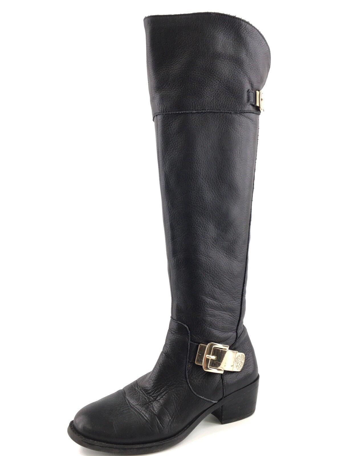 diseñador en linea Vince Camuto Bocca Cuero Negro Sobre La La La Rodilla botas Hebilla para Mujer M 0060  más descuento