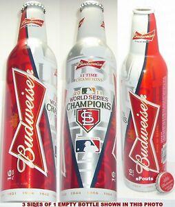 2011 WORLD SERIES ST.LOUIS CARDINAL MLB BASEBALL BUD ALUMINUM BOTTLE BEER CAN MO