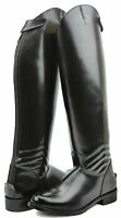 Hispar Mens Elegant Dress Dressage Boots With Zipper Riding English Equestrian