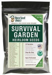 Survival Garden 15,000 Non GMO Heirloom Vegetable Seeds Survival Garden 32