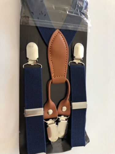 Boy Kid Children Party Costume Wedding Pants Suspender Brace Belt Clip Bowtie