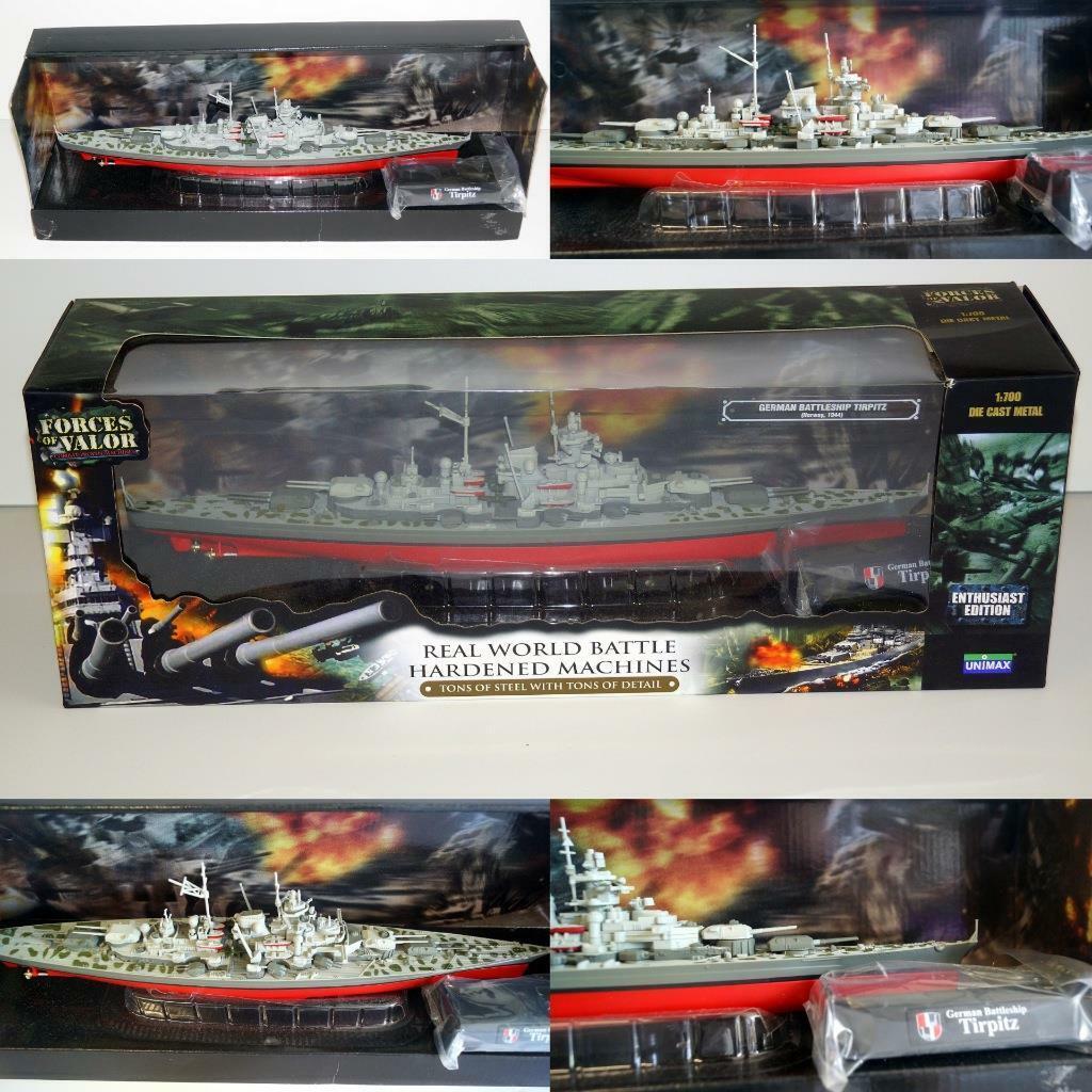 Forces of Valor   86005 UNIMAX Enthusiast Edition 1 700 German Tirpitz En parfait état, dans sa boîte