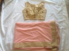 Indian Pakistani Saree Sari Embroidery Bridal Ethnic Bollywoodstitched  blouse