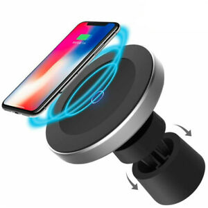 Magnetic Wireless Car Charger W5 w/ Dashboard Mount Holder Cradle